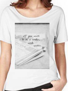 Wish to be a Writer Women's Relaxed Fit T-Shirt