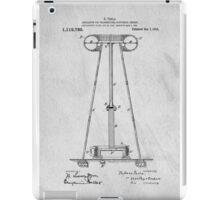 Tesla Patent Art iPad Case/Skin