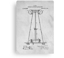 Tesla Patent Art Canvas Print