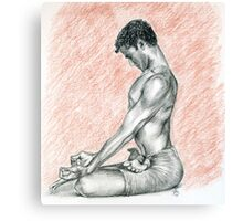 R. Sharath-Padmasana Canvas Print