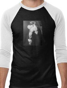 white bleeding hearts, black and white #2 Men's Baseball ¾ T-Shirt
