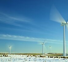Wind Turbines in Motion by yeamanphoto