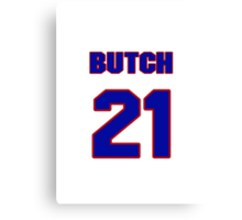 Basketball player Butch Beard jersey 21 Canvas Print