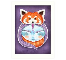 Huriyah & Red Panda Art Print