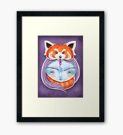 Huriyah & Red Panda Framed Print