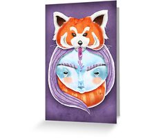 Huriyah & Red Panda Greeting Card