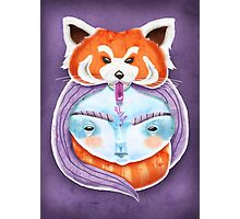 Huriyah & Red Panda Photographic Print