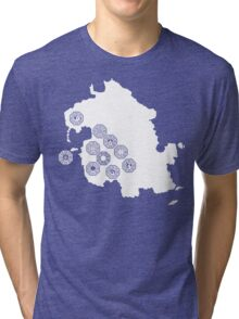 DHARMA Station Map Tri-blend T-Shirt