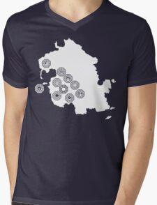 DHARMA Station Map Mens V-Neck T-Shirt