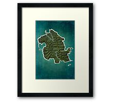 DHARMA Station Map Framed Print