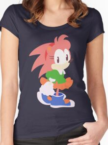 Amy Rose The Hedgehog Women's Fitted Scoop T-Shirt
