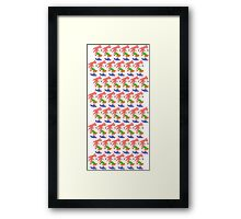 Amy Rose The Hedgehog Repeating Framed Print