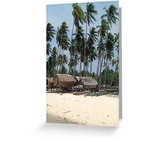 Mabul Island - Fisher Village - Borneo Greeting Card