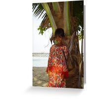 Local girl @ Mabul Island - Borneo Greeting Card