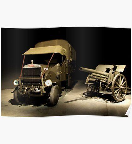 Leyland truck - War Memorial Canberra Poster