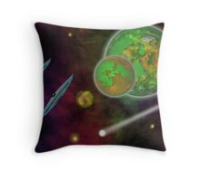 Reaching The New Frontier Throw Pillow