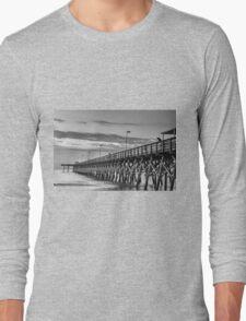 2nd Ave Pier black & White_1 Long Sleeve T-Shirt