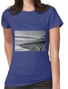 2nd Ave Pier black & White_1 Womens Fitted T-Shirt