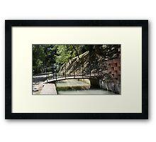 A wrought iron bridge Framed Print