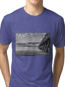 2nd Ave pier black and white_2 Tri-blend T-Shirt