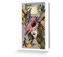 Deadly Fruit Greeting Card