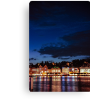 Lucerne by night Canvas Print