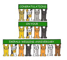 55th Emerald Wedding Anniversay Congratulations. by KateTaylor