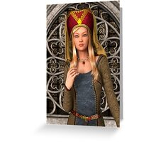 Medieval Lady  Greeting Card