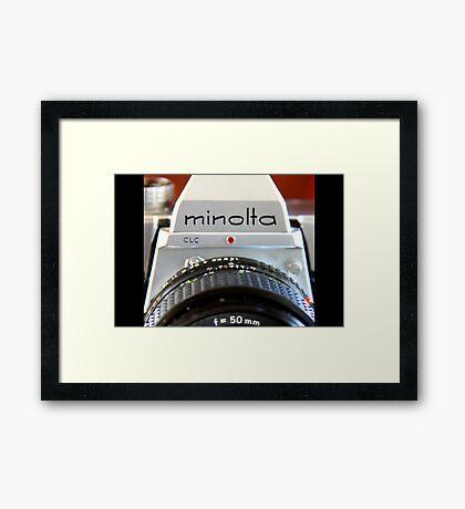 Macro Minolta Framed Print