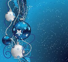 Blue Christmas balls 2 by AnnArtshock