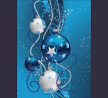 Blue Christmas balls 2 Unisex T-Shirt