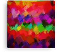 Colorful Paint Splatter Brush Stroke Canvas Print