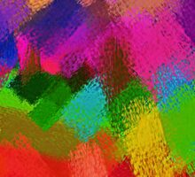Colorful Paint Splatter Brush Stroke Sticker