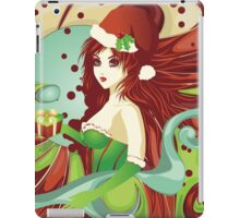 Santa girl in green corset iPad Case/Skin