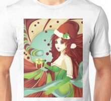 Santa girl in green corset Unisex T-Shirt
