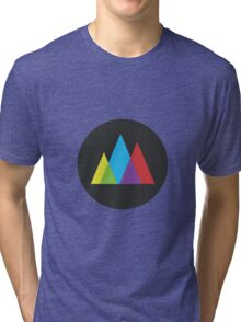 Triangles in Gray Tri-blend T-Shirt