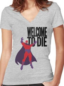 X-men, Welcome to Die Women's Fitted V-Neck T-Shirt