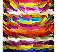 Vivid Color Paint Splatter Brush Stroke Photographic Print