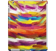 Vivid Color Paint Splatter Brush Stroke iPad Case/Skin