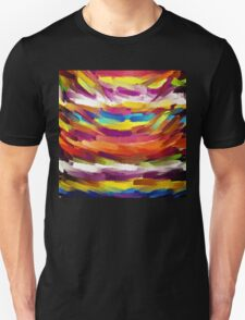 Vivid Color Paint Splatter Brush Stroke T-Shirt