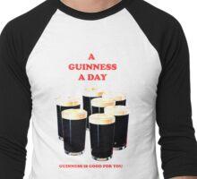 a pint a day Men's Baseball ¾ T-Shirt