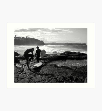 Winter Surfers II Art Print