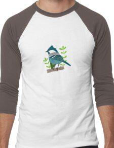 Blue bird Men's Baseball ¾ T-Shirt
