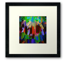 Vivid Color Paint Splatter Brush Stroke #2 Framed Print