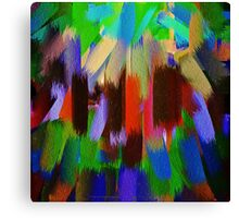Vivid Color Paint Splatter Brush Stroke #2 Canvas Print