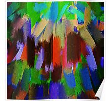 Vivid Color Paint Splatter Brush Stroke #2 Poster