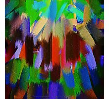 Vivid Color Paint Splatter Brush Stroke #2 Photographic Print