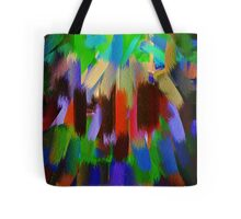 Vivid Color Paint Splatter Brush Stroke #2 Tote Bag