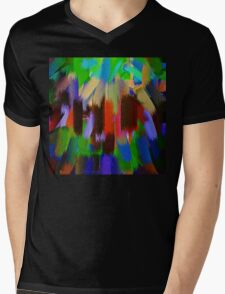 Vivid Color Paint Splatter Brush Stroke #2 Mens V-Neck T-Shirt