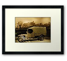 WW1 Army Truck Framed Print